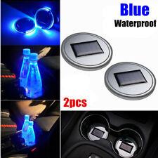 2pcs Solar Cup Pad Car Accessories LED Light Cover Interior Decoration Lights