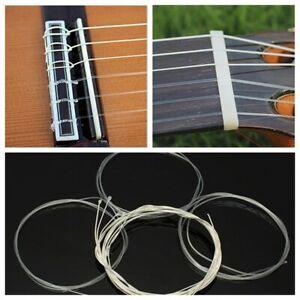 6pcs/Set Jeu De Cordes Cordons Nylon String Guitare Bois Classique Acoustique
