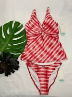 NWT Sunsets Underwire Bra Tankini + Bikini Bottom 2 Piece Bathing Swimsuit Set