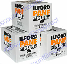 3 x ILFORD PAN F 35mm 36exp BLACK & WHITE CAMERA  FILM by 1st CLASS POST