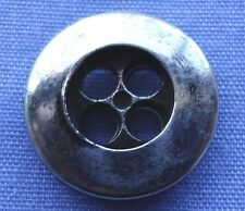15mm Silver 4 Hole Buttons #12 (x 2 buttons)