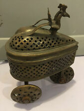 Antique Brass Religious Incense Trolley Purchased In Europe Very Unusual Piece