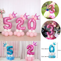 32'' Foil Number Balloons Giant Digit Birthday Party Xmas Boy Girl Baby Shower