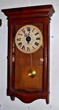 New England Clock Company Regulator Wall Clock Working Bristol Connecticut