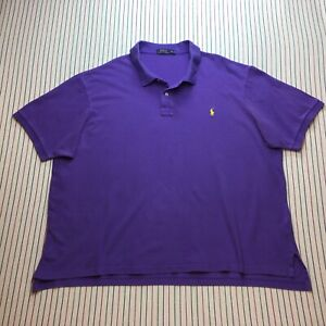 1275 Polo Ralph Lauren Golf Shirt Men's BIG Size 4XB Casual Short Sleeve PURPLE