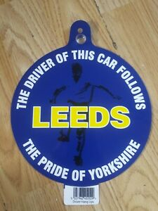 LEEDS UNITED CAR WINDOW HANGER THE PRIDE OF YORKSHIRE FREE UK DELIVERY!