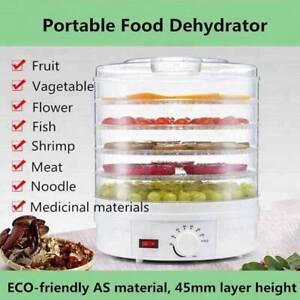 5 Tray Electric Food Dehydrator Fruit Dryer Meats Preserver Machine 350W 28CM