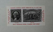1942 7th Annual Sojex Washington 3 cent Camden Nj Souvenir Ad