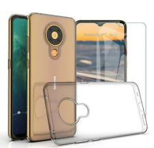 For Nokia 5.3 Case Clear Slim Gel Cover & Glass Screen Protector