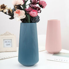 30cm Large Plastic Vase Imitation Ceramic Flower Pot Home Office Decor Water