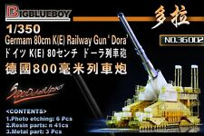 "Big Blue Boy 1/350 #36002 GERMAN 80 cm K (E) RAILWAY GUN ""DORA"" RESIN KIT & gravé"