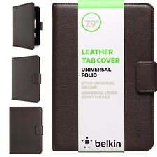 Belkin Leather Tab Tablet iPad Cover Case Universal Folio 6' To 7.9' inch Brown