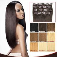 100% Remy Clip-In Extensions Set 7 Teilig Echthaar Haarverlängerung 40 45 55cm