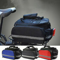 Waterproof Bicycle Bike Cycling Rear Rack Seat Carrier Saddle Storage Bags Large