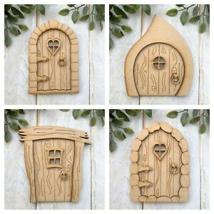MDF Cute wooden mini Fairy Door KIT ready to decorate 12 designs to choose from