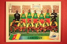 PANINI WC WM FRANCE 98 1998 N. 120 CAMEROUN TEAM WITH BLACK BACK MINT!!