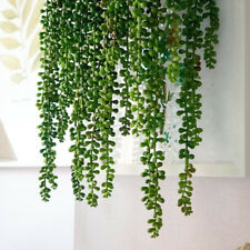 Artificial Hanging Plants Fake Succulents String of Pearls Flower Green