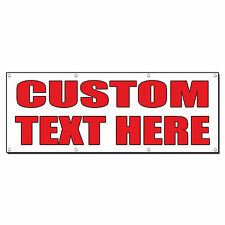 Custom Text Here Auto Body Shop Car Repair Banner Sign 4 Ft X 2 Ft W 4 Grommets