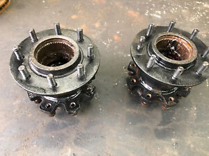 PAIR GM / Chevy Dana 60 front DRW BUDD wheel hubs dually Internal Dodge K30 W350
