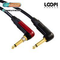 Guitar Instrument Lead 2m ~ 25m - Van Damme Cable w/ Neutrik SILENT Right