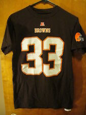 Cleveland Browns #33 TRENT RICHARDSON NFL Team Apparel T Shirt Small EUC