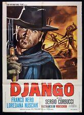 Manifesto Django Franco Noir, Sergio Corbucci 1 Édition Italienne 1966 M44