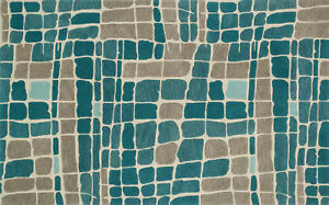 7'x7' Square Loloi Rug Nova Wool. Teal Grey Hand-tufted Contemporary NV-01