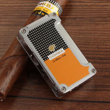 COHIBA Yellow Classic 1 Torch Jet Flame Cigar Cigarette Lighter With  2 Punches