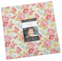 "Moda, Bramble Cottage, Layer Cake, 10"" Fabric Quilting Squares, 18690LC, B09"