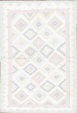 Clearance! Geometric Contemporary Kilim Dhurrie Hand-Woven 4'x6' Ivory Wool Rug