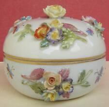 Dresden Porcelain Box Floral Encrusted
