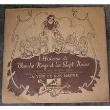 Vinyle Walt Disney double album 78T de Blanche Neige et les sept Nains BO