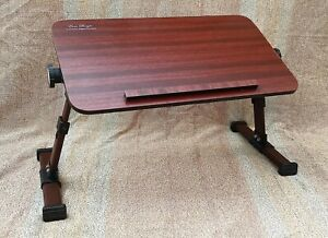 Wooden table for laptop Bed Study Writing Bed Breakfast Table & Fordable Legs