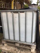 Regenwassertank Regentonne Wassertank Wasserfass 1000 ltr IBC Gitterbox Behälter