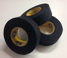 Black Hockey Tape - 1x15 Yards - 3 Rolls of Black Howie's Hockey Tape