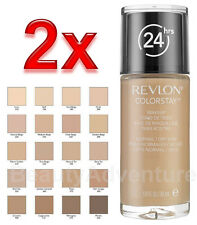 2x Revlon Colorstay Makeup Normal/Dry 110 Ivory Foundation Softflex 24HR