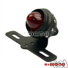 Black Rear LED Tail Light License Plate Light Bracket For Harley Chopper Bobber