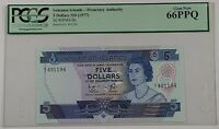 (1977) Solomon Islands $5 Dollar Note SCWPM# 6b PCGS 66 PPQ Gem New