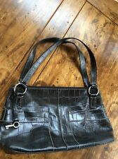 womens handbags and purses/Fossil Black Leather Shoulder Bag