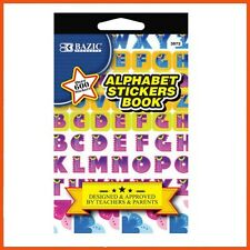 12 x ALPHABET STICKER BOOK 600 + STICKERS Education Learning Letters Spelling