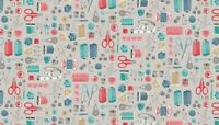 Andover Prints Stitch in Time Quilting Fabric 100% Cotton Notions 2135 100% Cot