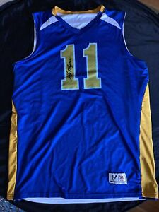 Golden State Warriors Klay Thompson Jersey High Five XL Signed Not authenticated