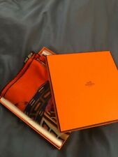 Hermes CASHMERE SILK Orange shawl scarf 140cm, With Box And receipt $1100