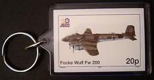 Luftwaffe FOCKE WULF Fw-200 Condor WWII Aircraft Stamp Keyring