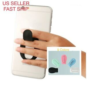Cell Phone Holder Silicone Grip Finger Kickstand, Air Vent Universal Car Mount