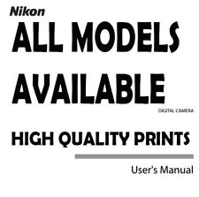 ALL Models New Nikon User Manual Guide Instruction Operator Manual Printed