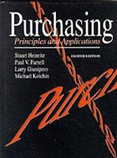 Purchasing: Principles and Applications