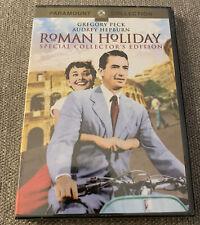 Roman Holiday DVD, 2002, Collectors Edition Audrey Hepburn Gregory Peck Classic