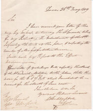 FIELD MARSHALL COLIN CAMPBELL: 1809 AUTOGRAPH LETTER at 17 yrs old THIN RED LINE
