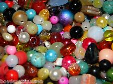 NEW 4/oz Semiprecious, Gemstone, 6-15mm  MIXED LOOSE BEADS LOT (T4)